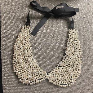 Tasha Pearl and Diamond Collar Necklace